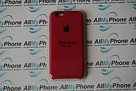 "Накладка оригинальная ""Apple Silicone Case"" для iPhone 6 / 6S Rose Red, фото 1"