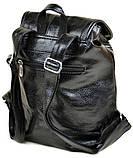 Городской женский рюкзак. Женский кожаный рюкзак. Стильный рюкзак. Качественный рюкзак., фото 2