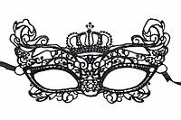 "(Цена за 12шт) Кружевная маска ""Jubaea"" для маскарада, черная, длина 21.5см, ширина 11см, Венецианская маска, Ажурная маска"