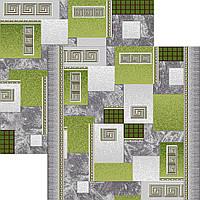 Ковролин зеленые квадраты 0,8м 0,9м 1м 1,2м 1,5м 2м 3м 4м
