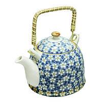 "Заварочный чайник с ситом синий 900 мл ""Домашний"" ( чайник )"