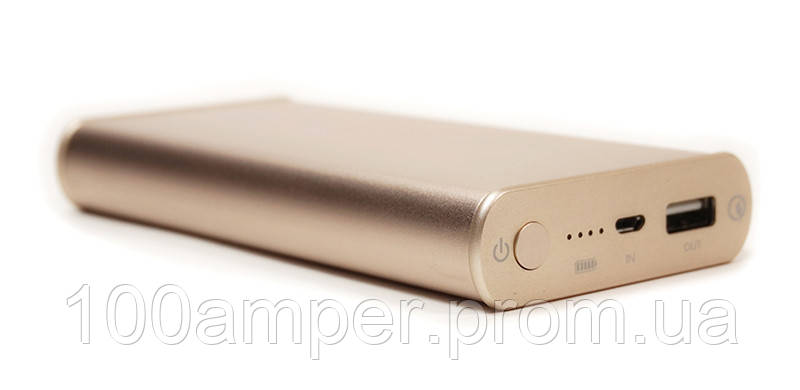 Универсальная мобильная батарея PowerPlant/Q1S/Quick-Charge 2.0/10200mAh Gold