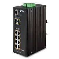 Промышленный коммутатор PoE Planet IGS-10020PT (8Port 10/100/1000T 802.3af PoE +2Port100/1000X SFP)