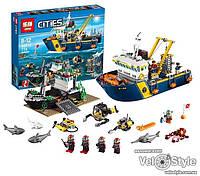 """Конструктор Lepin 02012 """"Корабль исследователей морских глубин"""" (Lego City 60095) 775 дет."""