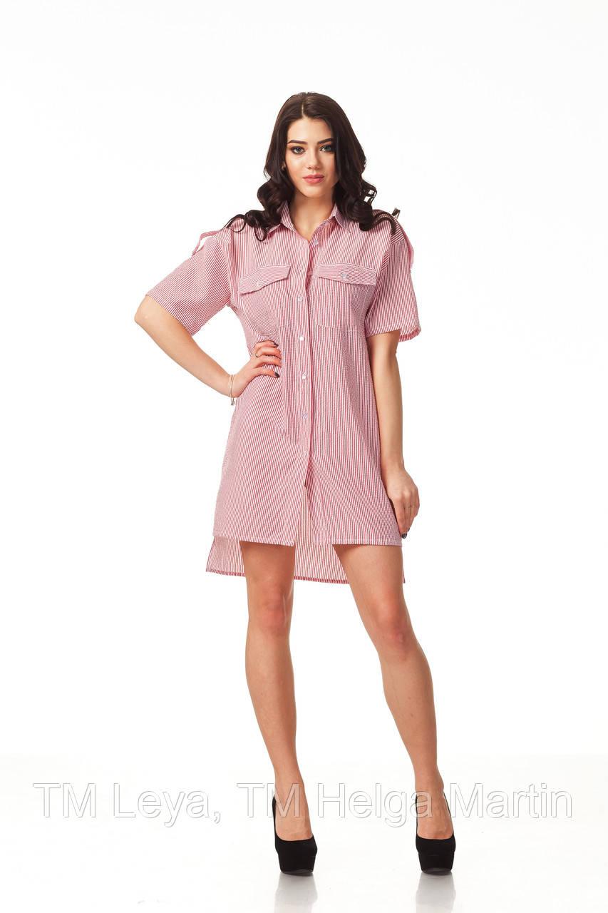 3857cbca501 Летнее женское платье рубашка в полоску. П112 - ТМ Leya