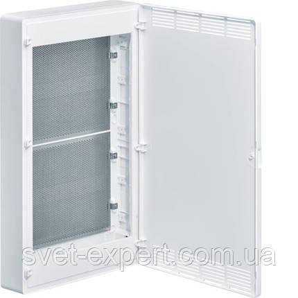 Щит 4-рядний для ММ-обладнання з/у білі пластикові перфоровані двері GOLF, фото 2