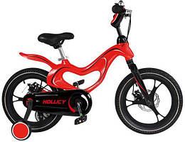 Детский двухколесный велосипед Hollicy 14 дюймов красный
