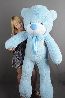 """Плюшевый мишка """"Рафаэль"""", голубой, 160 см."""