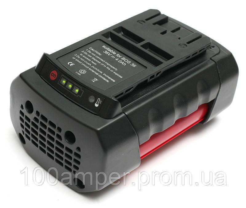 Аккумулятор PowerPlant для шуруповертов и электроинструментов BOSCH GD-BOS-36 36V 4Ah Li-Ion