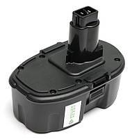 Аккумулятор PowerPlant для шуруповертов и электроинструментов DeWALT GD-DE-18(A) 18V 3Ah NIMH