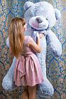 """Плюшевый мишка """"Рафаэль"""", серый, 160 см."""