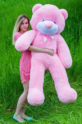 """Плюшевый мишка """"Рафаэль"""", розовый, 160 см."""