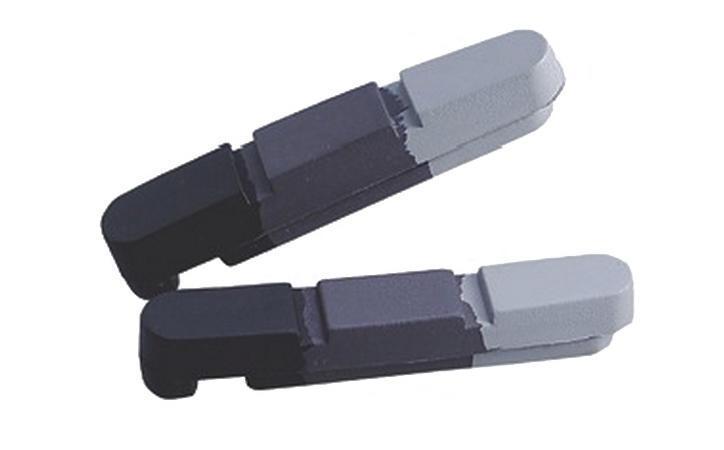 Картриджі для колодок Alligator для алюмінієвих ободів 55mm чорний/сірий/білий