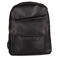 Женский черный рюкзак Seven (1731 клапан)