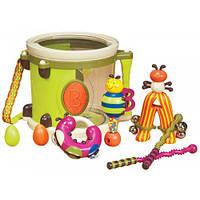 Музыкальная игрушка Парам-пам-пам 8 инструментов, в барабане, Battat BX1007Z