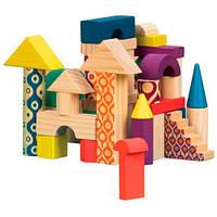 Деревянные кубики Еловый домик, 40 дет., Battat