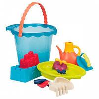 Мега-ведерце Море (9 предметов), набор для игры с песком и водой, Вattat