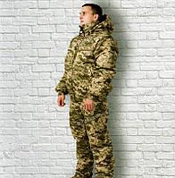 Зимний костюм камуфляж с капюшоном Пиксель ЗСУ ММ-14 ЗСУ, фото 1