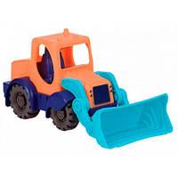 Мини-экскаватор цвет морской-мандариновый-океан, игрушка для игры с песком, Battat BX1440Z