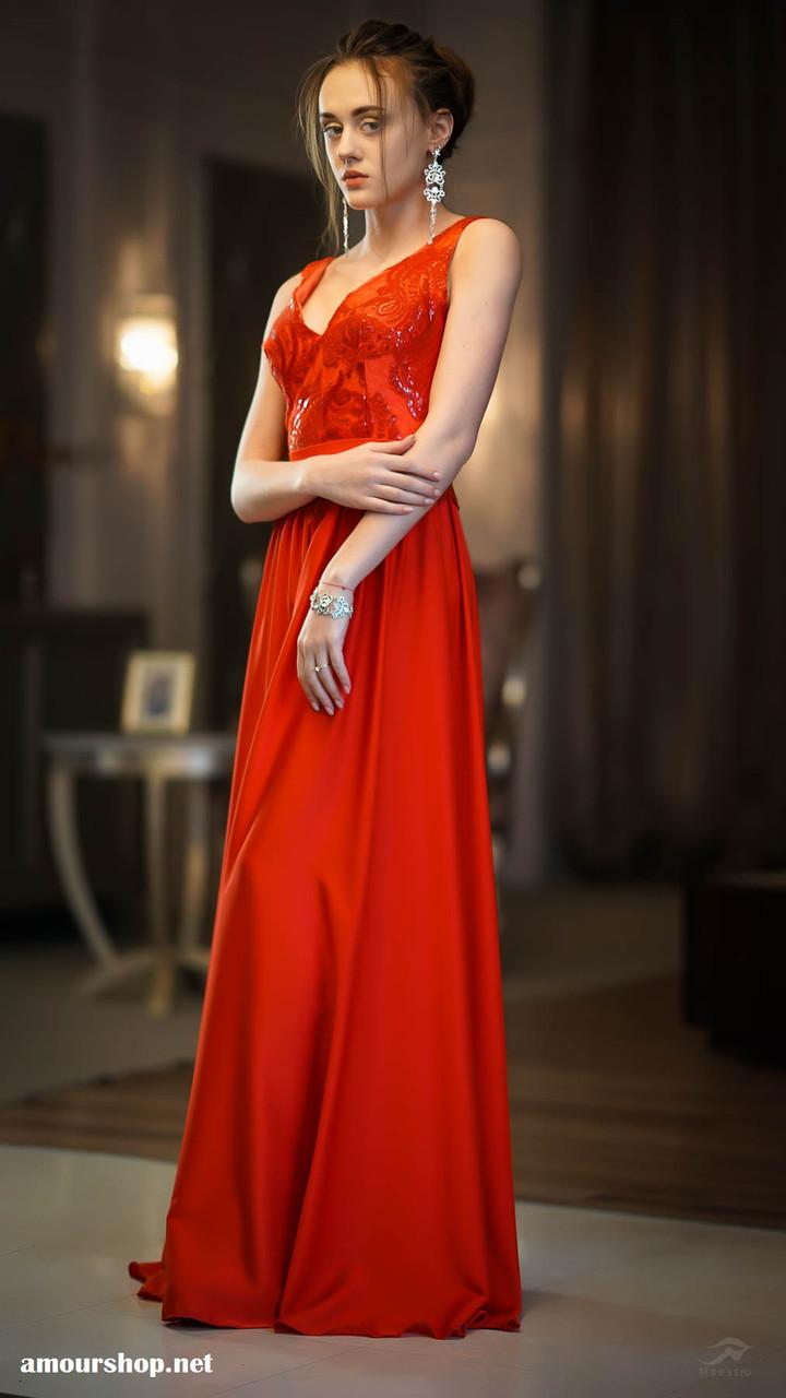 Прокат! Красное вечернее платье в пол