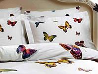 Полуторное постельное с бабочками Tivolyo Home Batterfly