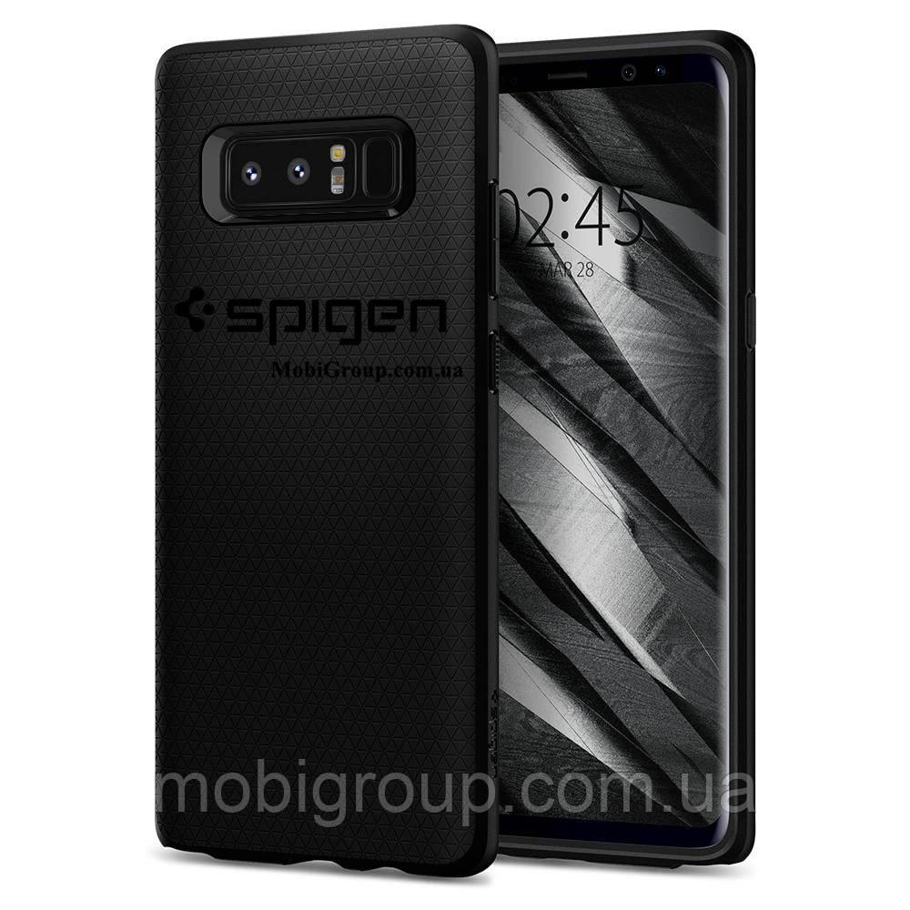 Чехол Spigen для Samsung Note 8 Liquid Air, Matte Black