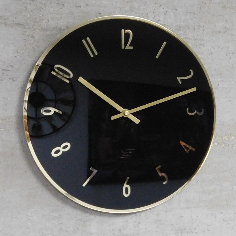 Часы настенные металлические в стиле лофт - GOLDEN NIGHT 30