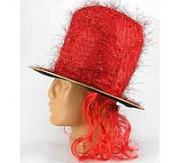 """Шляпа """"Цилиндр с париком"""", 2 вида"""