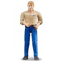 Фигурка человека в голубых джинсах, 11 см, Bruder 60006