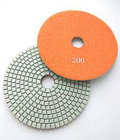 """Алмазные липучки, """"Черепашки"""", гибкие полировальные круги для полировки гранита и мрамора d125mm №200"""