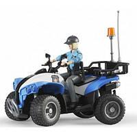 Полицейский квадроцикл, фигурка женщины-полицейского, Bruder
