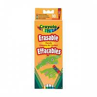 10 цветных карандашей с ластиками, Crayola 3635