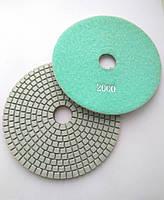 """Алмазные липучки, """"Черепашки"""", гибкие полировальные круги для полировки гранита и мрамора d125mm №2000"""