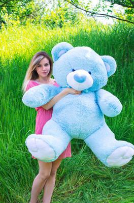 """Плюшевый мишка """"Томи"""", голубой, 160 см."""
