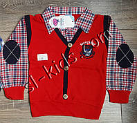 Рубашка-обманка для мальчика 7-9 лет(рубашка01) (пр. Турция)