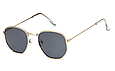 Солнцезащитные очки женсике оправа металл (золотая), фото 3