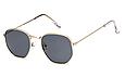 Солнцезащитные очки женские оправа металл (золотая), фото 3