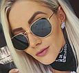 Солнцезащитные очки женские оправа металл (золотая), фото 2
