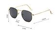 Солнцезащитные очки женские оправа металл (золотая), фото 6