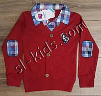 Рубашка-обманка для мальчика 7-9 лет(кардиган) (пр. Турция)