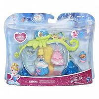 Мини-кукла Золушка в наборе с каретой и аксессуарами, Маленькое королевство, Disney Princess Hasbro