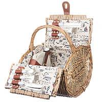 Плетеная корзина для пикника на 4 персоны (35*30*24 см)