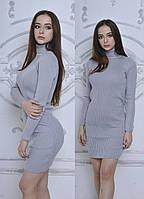 Женское платье, приталенное вязаное (АК-024)