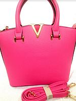 Ярко-розовая кожаная сумка, кросс-боди, фуксия крос боди