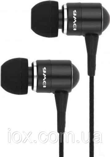 Чорні навушники-вкладиші для MP3/MP4/мобільного телефону AWEI ES-Q3 з якісною шумоізоляцією