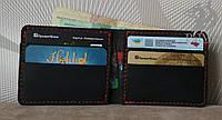 """Шкіряний гаманець чоловічий шкіряний гаманець """"Рrize"""" ручної роботи, натуральна шкіра+гравіювання, фото 1"""