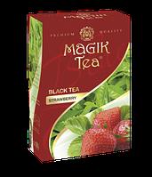 Чорний листовий чай «Magik Tea Stawberry», 100г