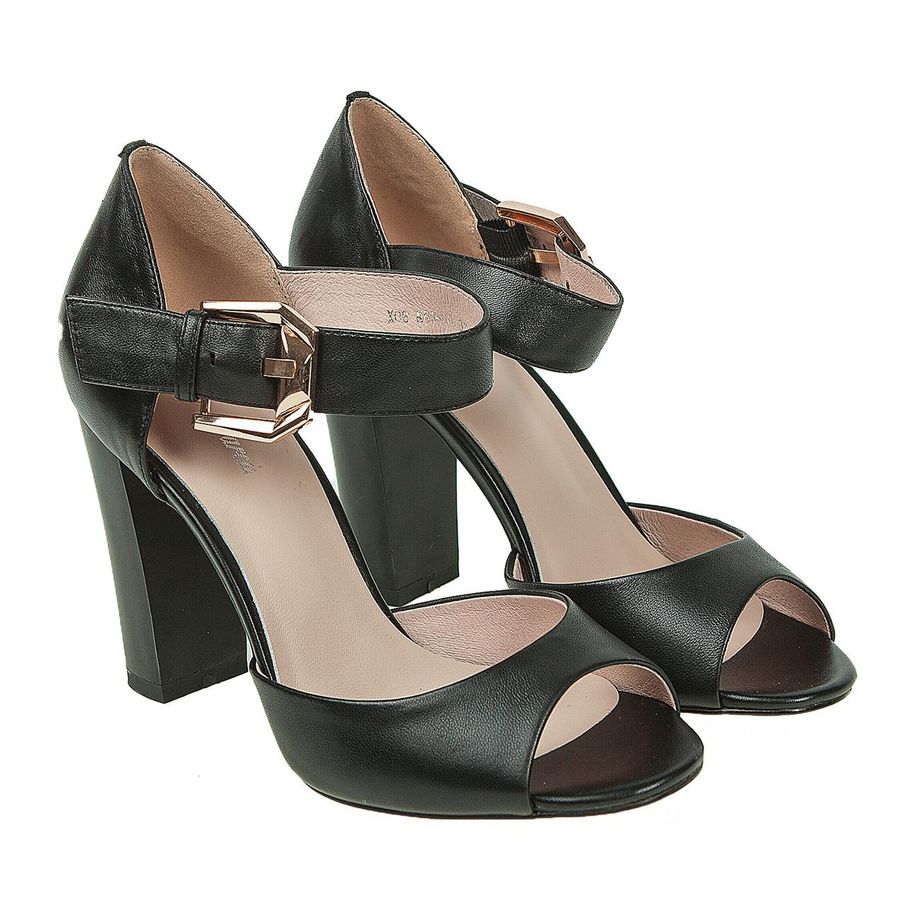 ac48d0e10db7 Купить Босоножки женские Lady Marcia (черного цвета, кожаные, стильные,  изысканные) ...