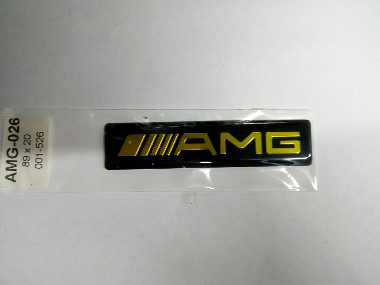 Силиконовая 3D наклейка  AMG  89х20 мм
