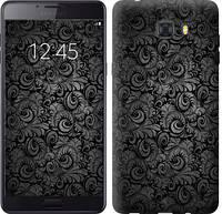 """Чехол на Samsung Galaxy C9 Pro Чёрно-серые листья """"843u-720-657"""""""
